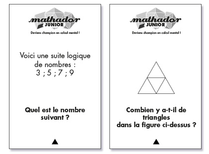 Cartes du jeu Mathador Junior